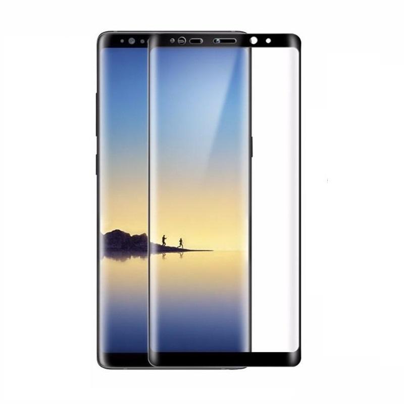 Kính Cường Lực 3D Trong Suốt Bảo Vệ Toàn Màn Hình Cho Samsung Note 8 - Đen