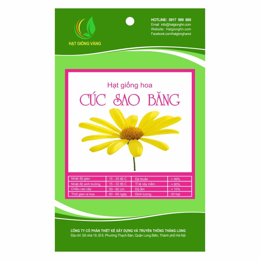 Combo 2 gói Hạt giống hoa Cúc sao băng Golden Seeds 50 Hạt