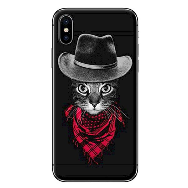 Ốp Lưng Dành Cho iPhone X - Mẫu  Mèo Đội Nón