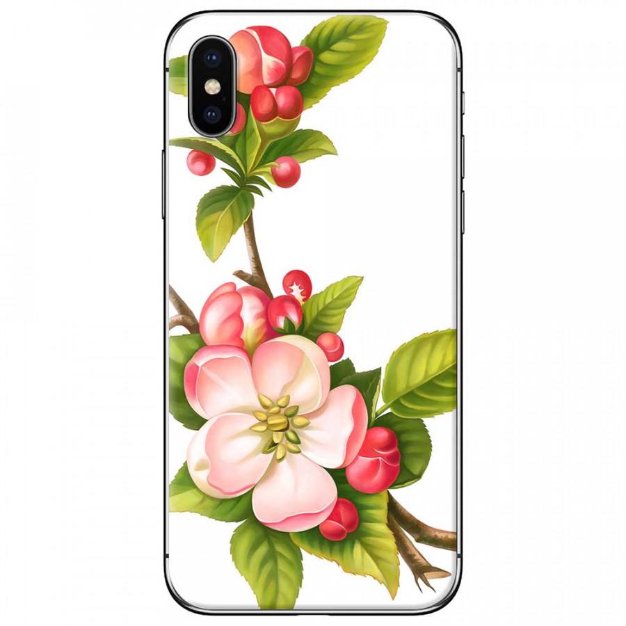 Ốp lưng dành cho iPhone XS Max mẫu Hoa đào đỏ nền trắng - 9490650 , 9447079432157 , 62_19416227 , 150000 , Op-lung-danh-cho-iPhone-XS-Max-mau-Hoa-dao-do-nen-trang-62_19416227 , tiki.vn , Ốp lưng dành cho iPhone XS Max mẫu Hoa đào đỏ nền trắng