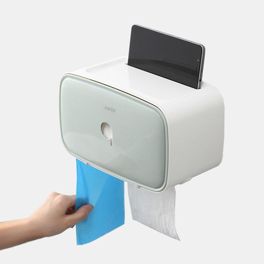 Rich home free punch waterproof toilet paper tray bathroom shelf tissue box storage box
