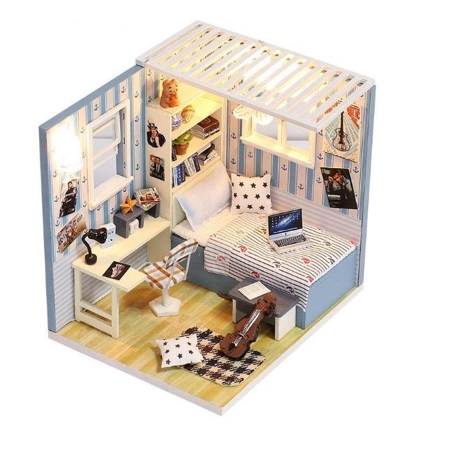 Mô hình nhà búp bê gỗ - Góc phòng ngủ của chàng nghệ sĩ Violin tương lai - 979505 , 8110972405054 , 62_2462993 , 350000 , Mo-hinh-nha-bup-be-go-Goc-phong-ngu-cua-chang-nghe-si-Violin-tuong-lai-62_2462993 , tiki.vn , Mô hình nhà búp bê gỗ - Góc phòng ngủ của chàng nghệ sĩ Violin tương lai