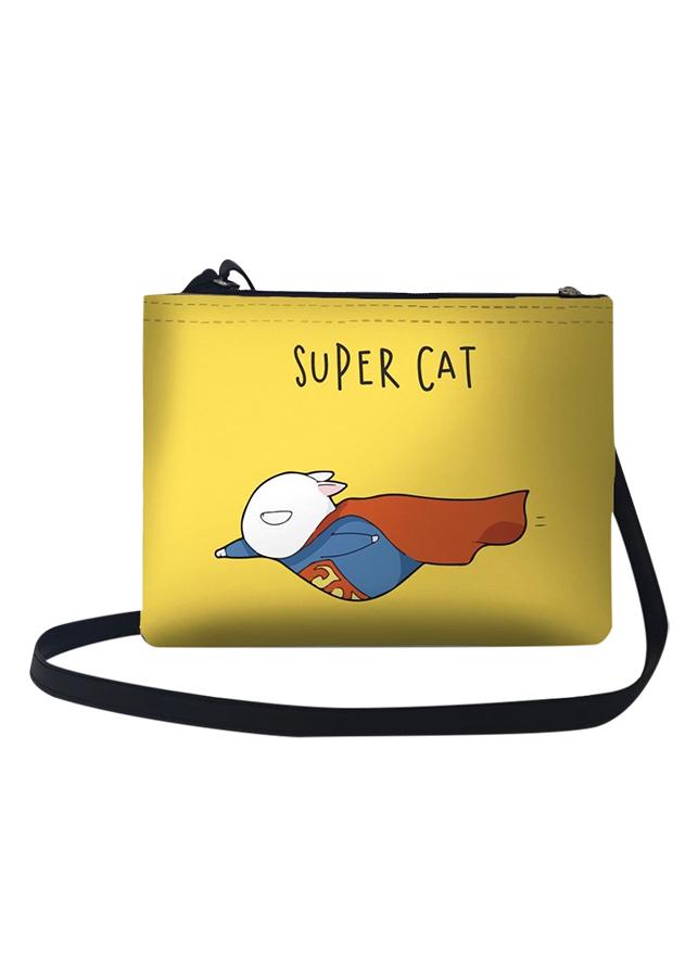 Túi Đeo Chéo Nữ In Hình Super Cat Bay - TUCT114 (24 x 17 cm)