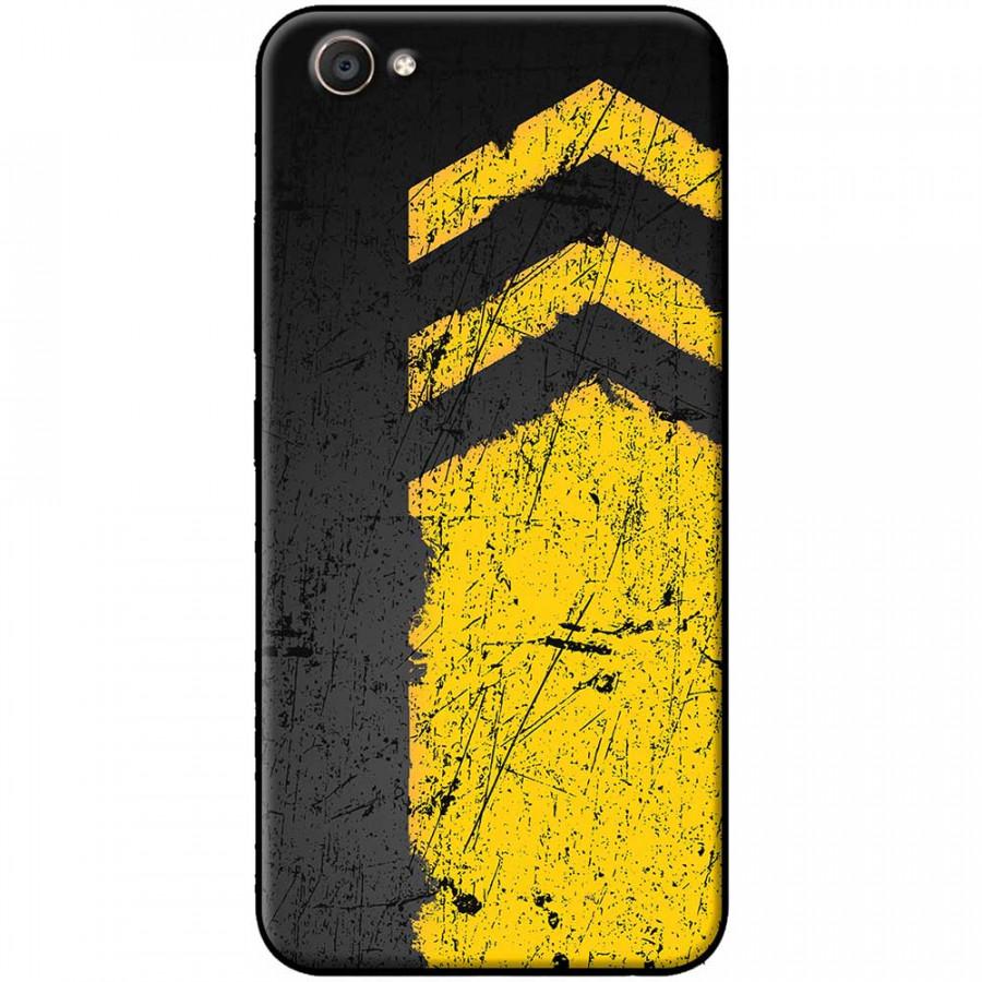 Ốp lưng dành cho Vivo Y69 mẫu Sọc vàng nền đen
