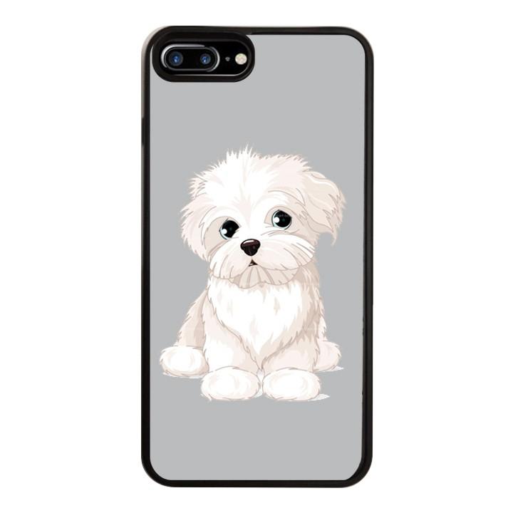 Ốp Lưng Kính Cường Lực Dành Cho Điện Thoại iPhone 7 Plus / 8 Plus Puppy Cute Mẫu 6