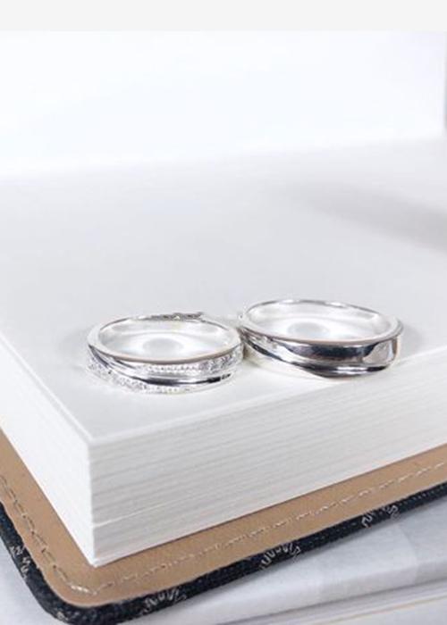 Nhẫn đôi bạc cao cấp N1409