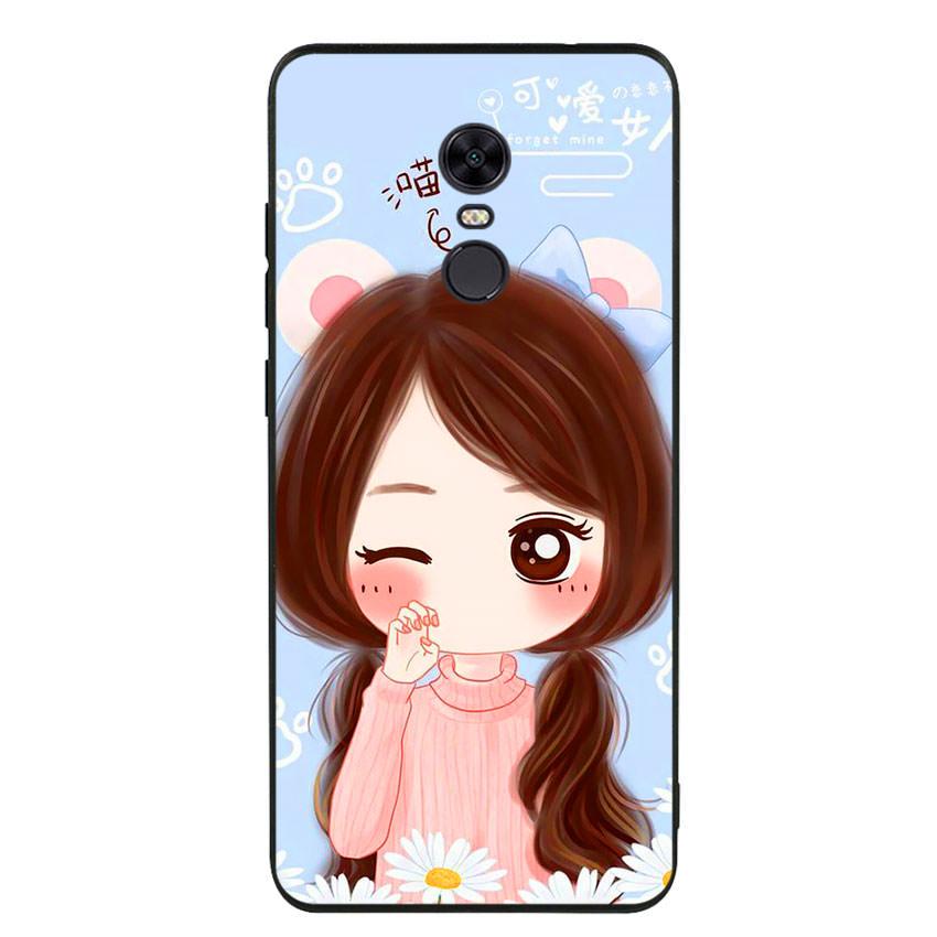 Ốp lưng viền TPU cao cấp cho điện thoại Xiaomi Redmi 5 Plus -Baby Girl
