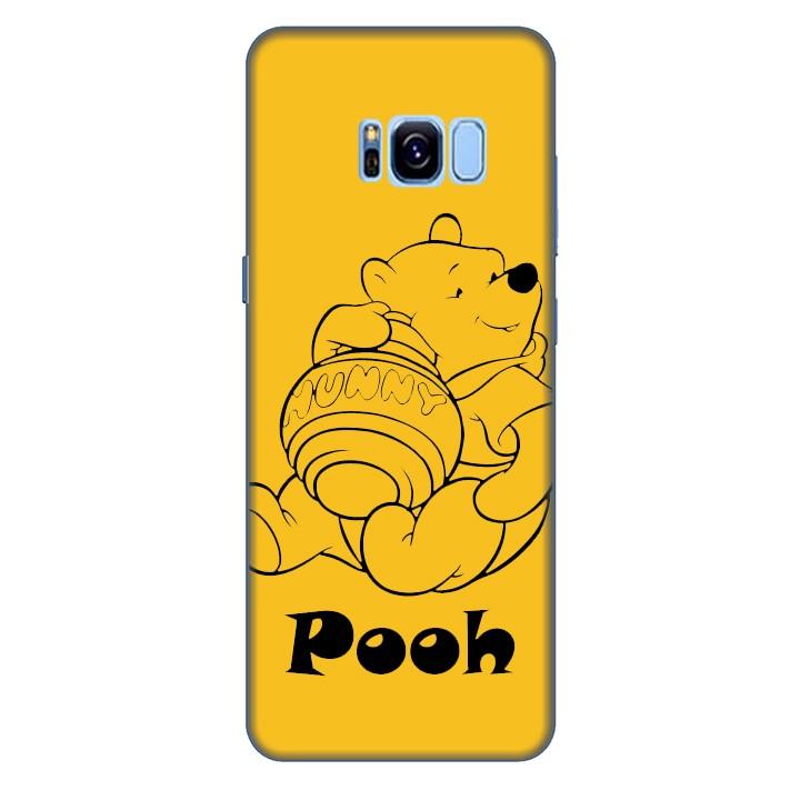 Ốp lưng nhựa cứng nhám dành cho Samsung Galaxy S8 in hình Pooh