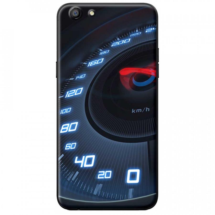Ốp lưng dành cho Oppo A71 mẫu Đồng hồ tốc độ xanh