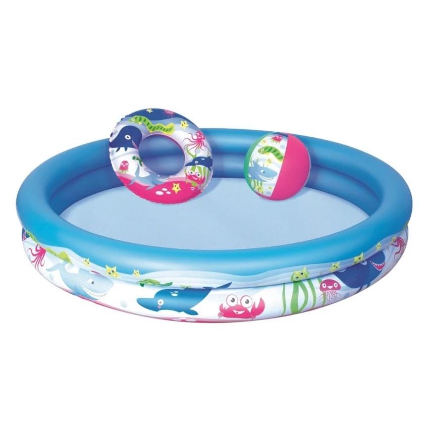 Bể bơi tròn cho bé 3 chi tiết (giao màu ngẫu nhiên)