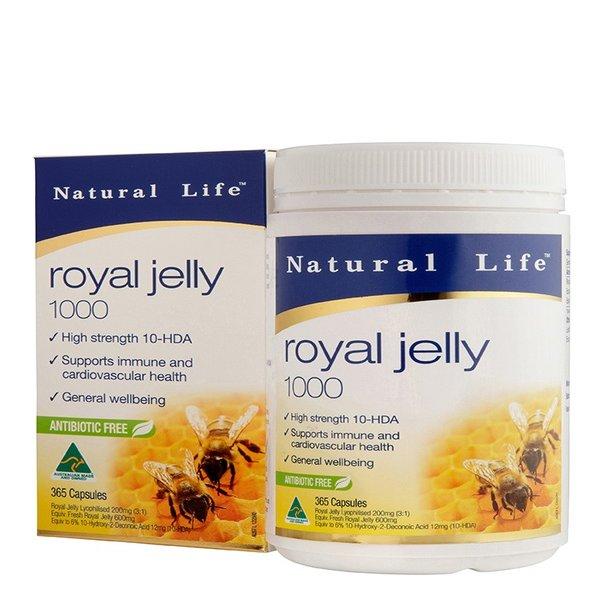 Thực phẩm chức năng Sữa Ong Chúa Natural Life Royal Jelly - Hộp 365 Viên - 1111677 , 9335411659020 , 62_4072695 , 2366000 , Thuc-pham-chuc-nang-Sua-Ong-Chua-Natural-Life-Royal-Jelly-Hop-365-Vien-62_4072695 , tiki.vn , Thực phẩm chức năng Sữa Ong Chúa Natural Life Royal Jelly - Hộp 365 Viên