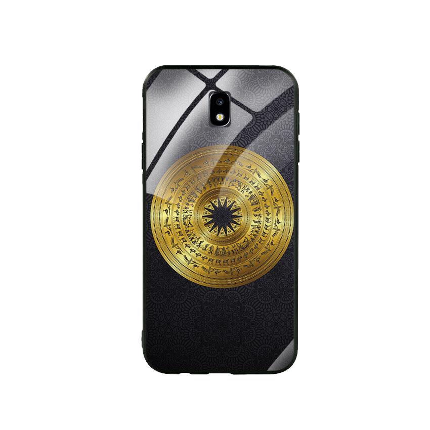 Ốp Lưng Kính Cường Lực cho điện thoại Samsung Galaxy J7 Pro - Trống Đồng 05