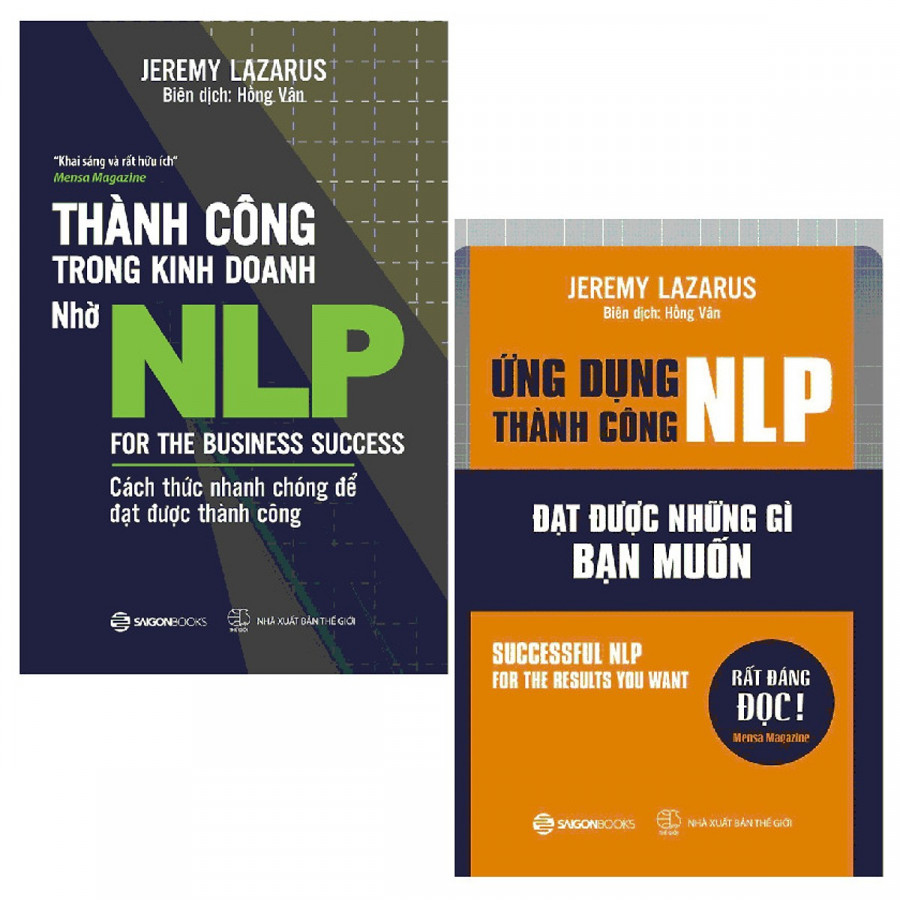 Combo 2 cuốn: Ứng Dụng Thành Công NLP, Thành Công Trong Kinh Doanh Nhờ NLP