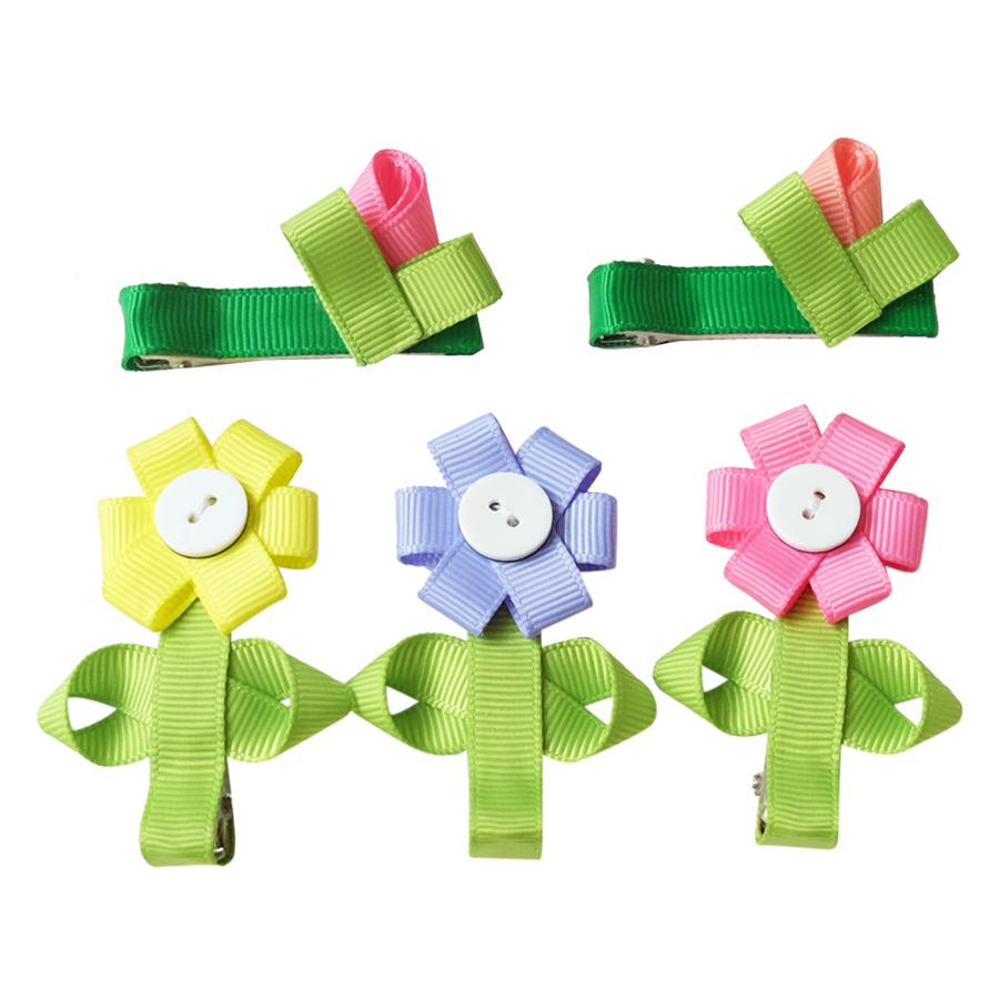 Set Kẹp Hoa Ruy Băng Bé Gái CucKeo Kids T101816 - Đủ Màu
