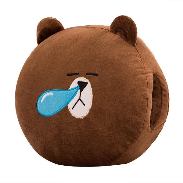 Gấu Bông Giữ Ấm Tay Hình Gấu Nâu Siêu Mịn 30x30cm