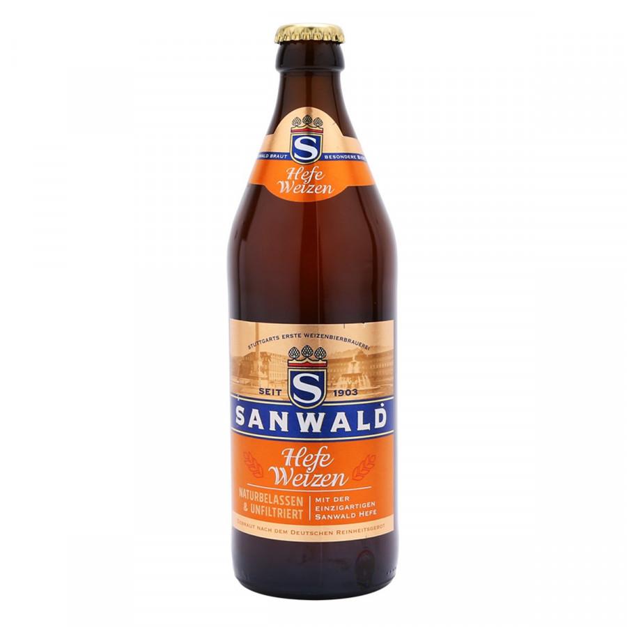 Chai bia Sanwald Hefe Weizen 4.9% (500ml)