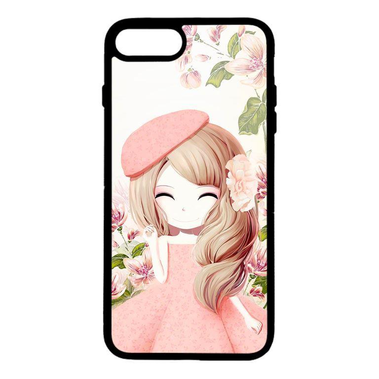 Ốp lưng dành cho điện thoại Iphone 8 Plus Anime Cô Gái Váy Bông