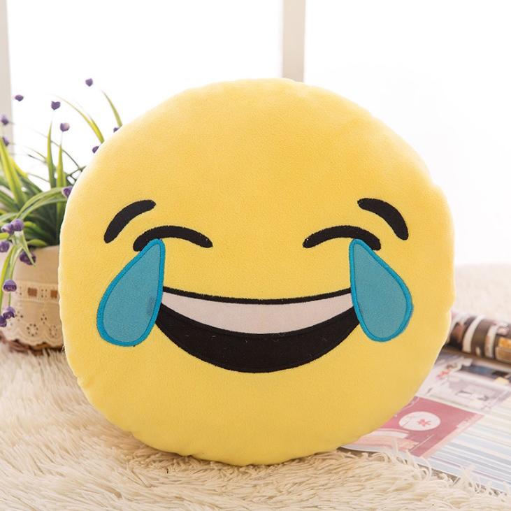 Gối icon mặt cười ra nước mắt nhồi bông size 32cm