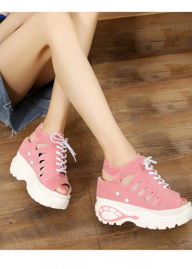 Giày sandal nữ đế nâng cá tính S037 - 2036770 , 1099778936597 , 62_11630387 , 405000 , Giay-sandal-nu-de-nang-ca-tinh-S037-62_11630387 , tiki.vn , Giày sandal nữ đế nâng cá tính S037