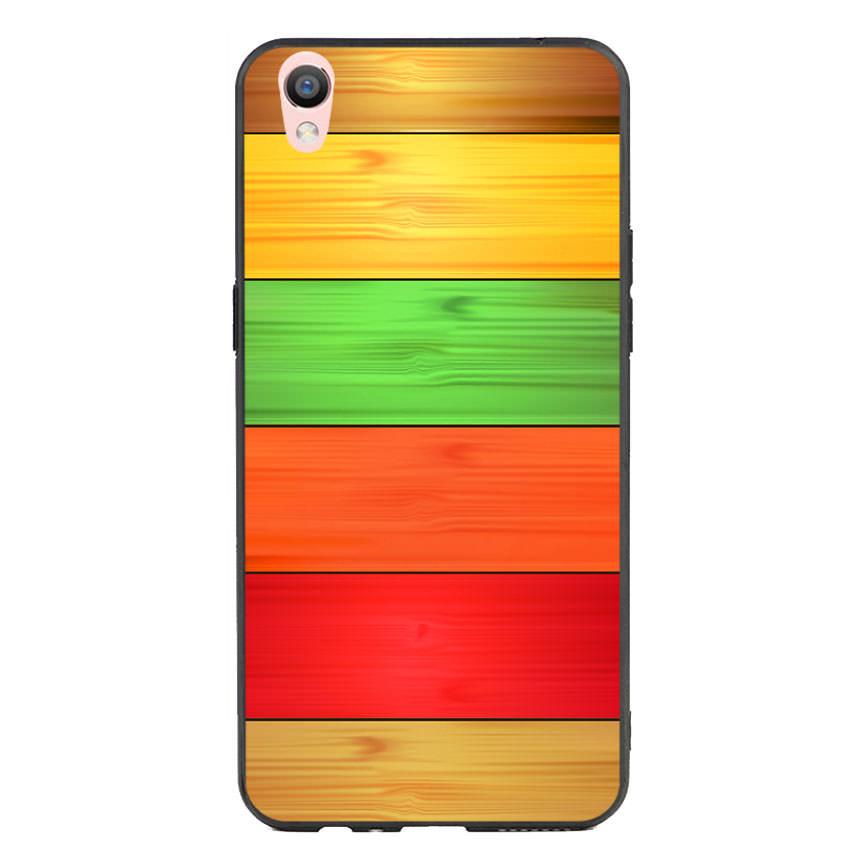 Ốp lưng nhựa cứng viền dẻo TPU cho điện thoại Oppo F1 Plus - Sắc Màu
