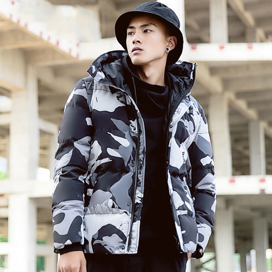 Áo Khoác Camouflage Có Nón Cho Nam CROCODILE 98881204