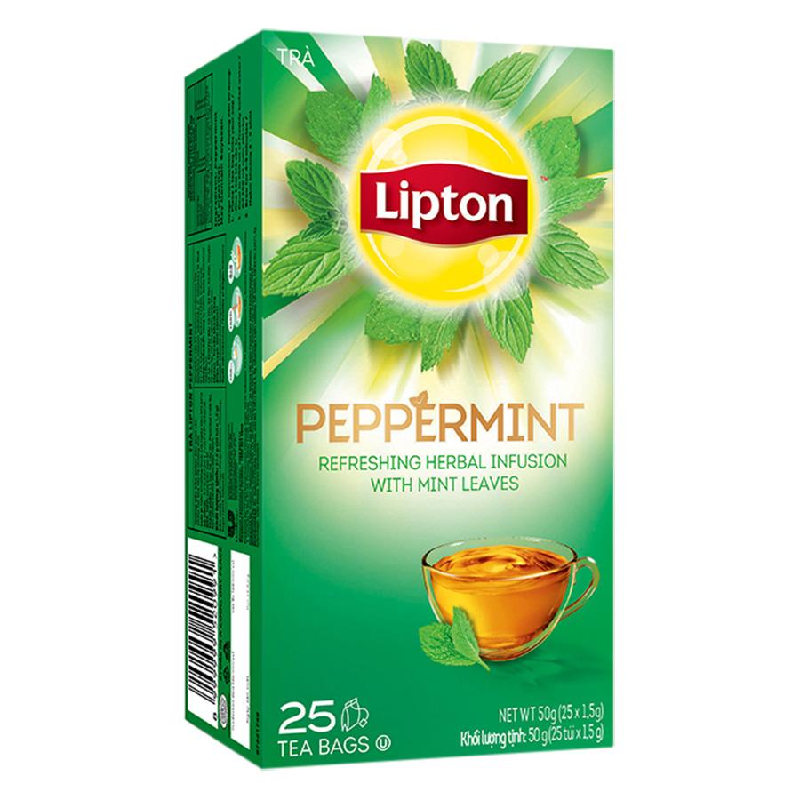 Trà Bạc Hà Helium Lipton Peppermint (25 Gói x 1.5g) - 883454 , 8999999520991 , 62_1453867 , 60000 , Tra-Bac-Ha-Helium-Lipton-Peppermint-25-Goi-x-1.5g-62_1453867 , tiki.vn , Trà Bạc Hà Helium Lipton Peppermint (25 Gói x 1.5g)