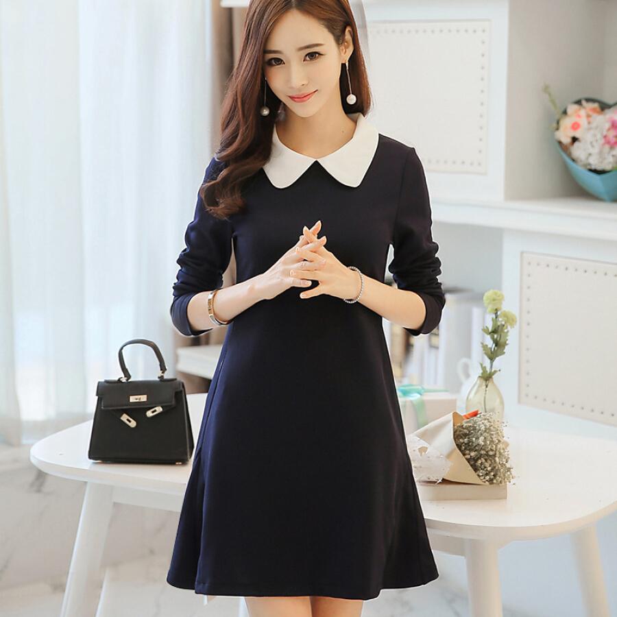 Đầm Chữ A Nữ Tay Dài Phong Cách Hàn Quốc Yu Zhaolin YWQZ187421