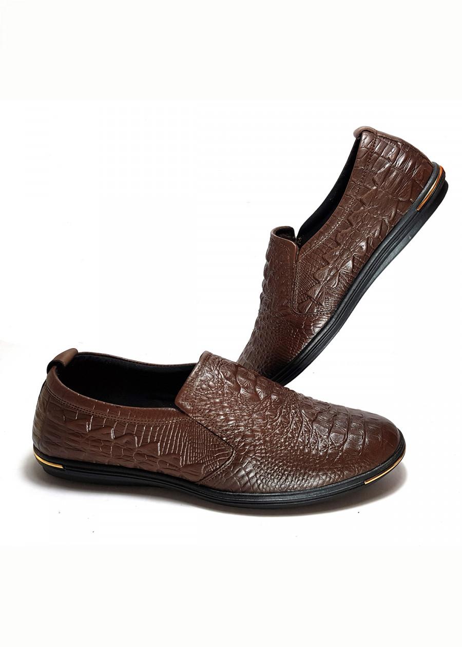 Giày lười nam đẹp công sở da bò thật cao cấp dập vân cá sấu độc đáo 2019 GL-21 màu nâu - 2326866 , 9537528298318 , 62_15050991 , 627000 , Giay-luoi-nam-dep-cong-so-da-bo-that-cao-cap-dap-van-ca-sau-doc-dao-2019-GL-21-mau-nau-62_15050991 , tiki.vn , Giày lười nam đẹp công sở da bò thật cao cấp dập vân cá sấu độc đáo 2019 GL-21 màu nâu