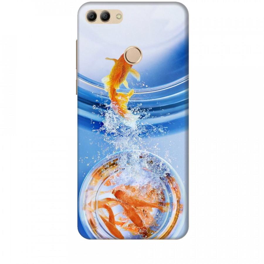 Ốp lưng dành cho điện thoại HuaweiY9 2018 Cá Betta Vàng