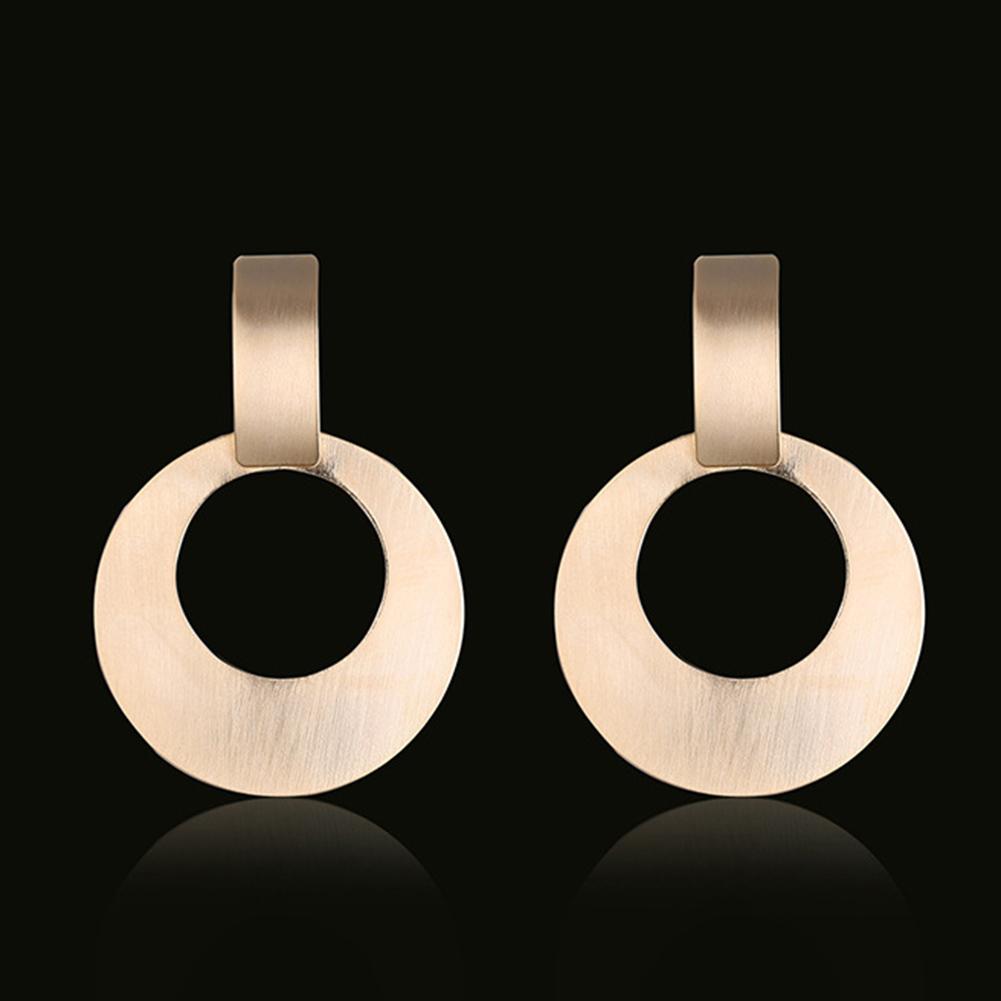 Fashion Hollow Circle Dangle Earrings Women Simple Ear Drops Party Jewelry Gift