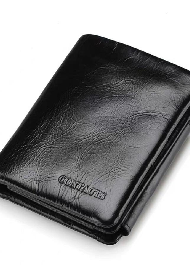 Bóp Ví Đứng da bò cao cấp M1002 Contacts - Để vừa giấy tờ xe cũ -Nam Nữ đều dùng được