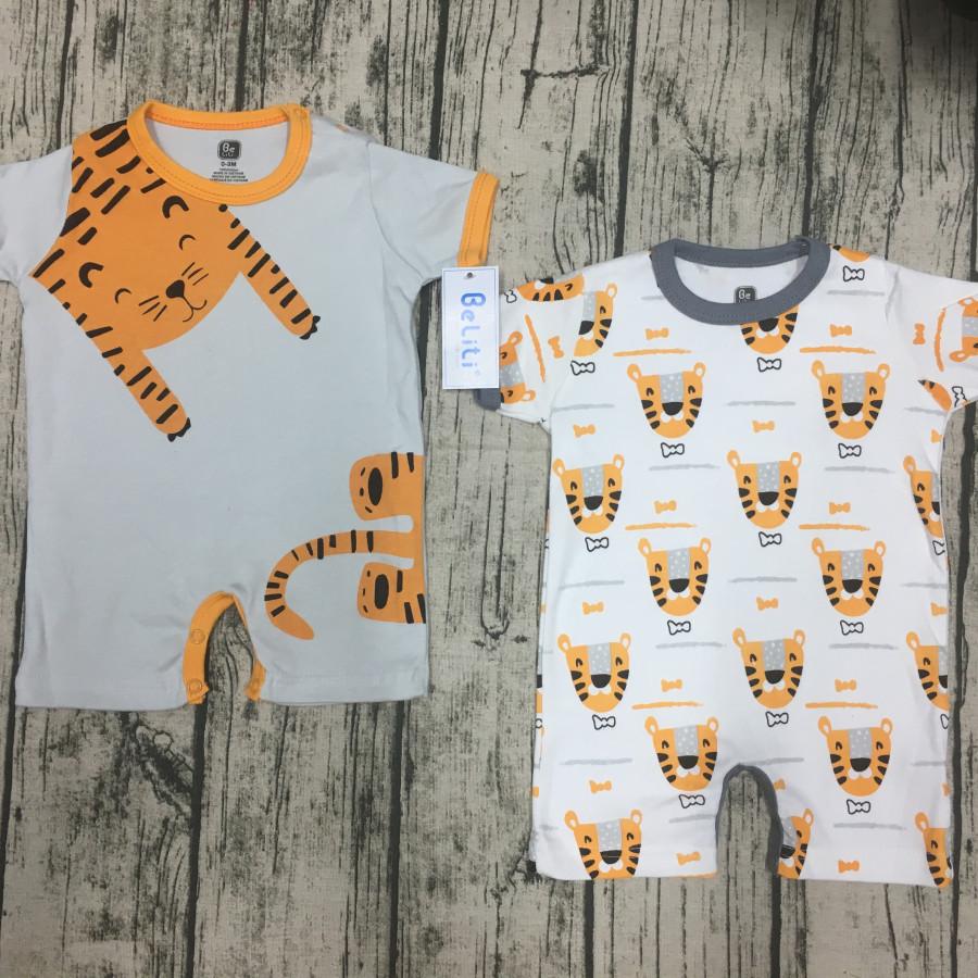 Bộ áo liền quần cho bé sơ sinh 2 chiếc
