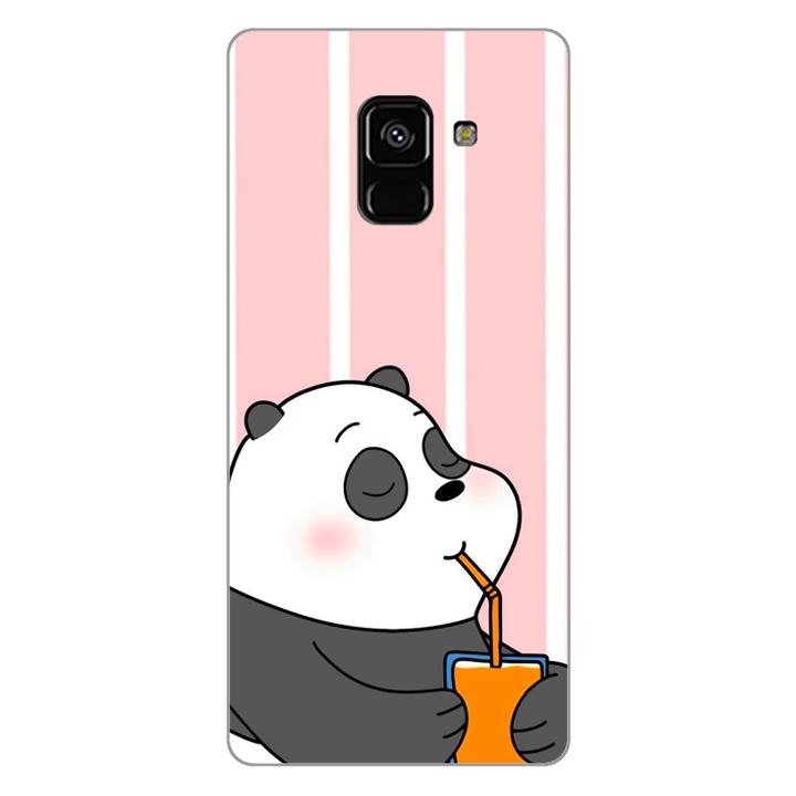 Ốp lưng dẻo Nettacase cho điện thoại Samsung Galaxy A8 2018_0399 PANDA06 - Hàng Chính Hãng