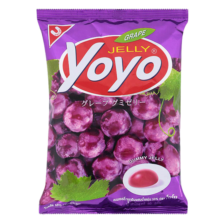 Kẹo Dẻo YoYo Hương Nho Gói 80g