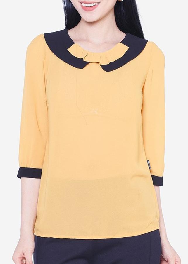 Áo Kiểu Nữ ADV0811VA Cổ Sen - Vàng