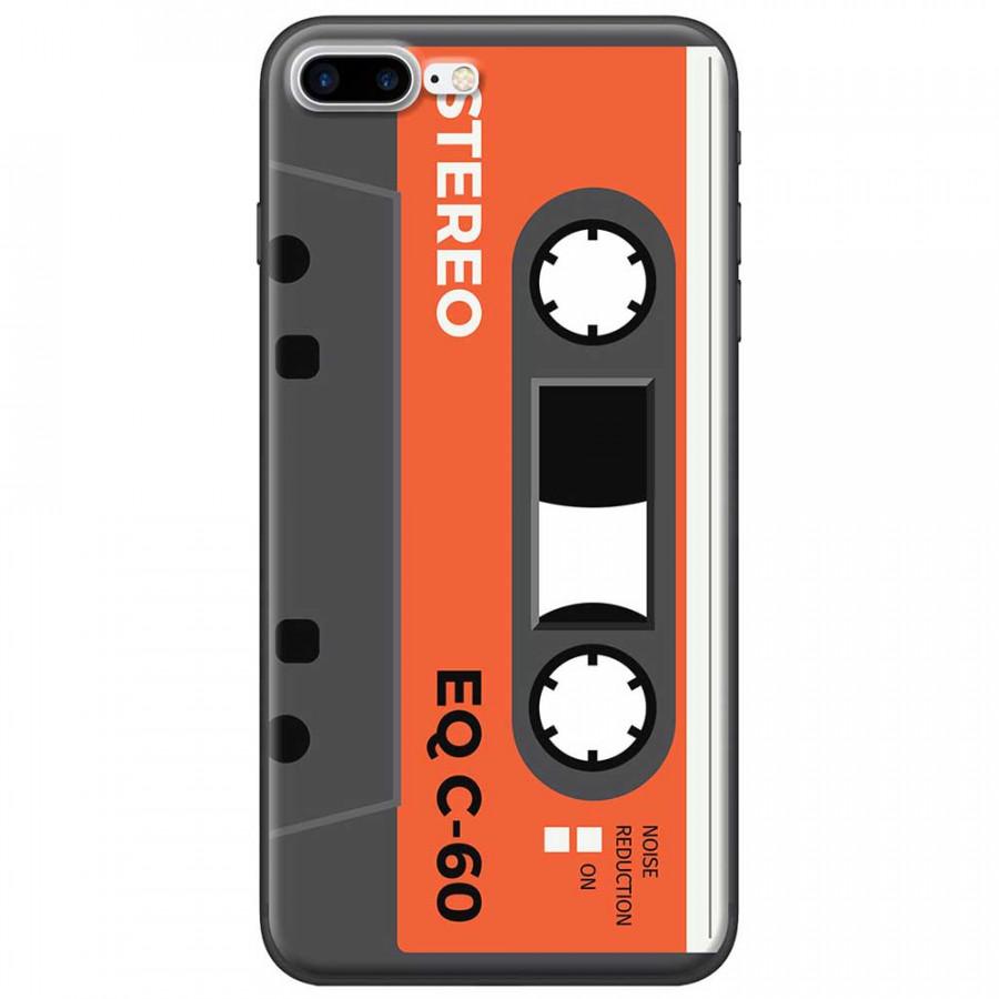 Ốp lưng dành cho iPhone 7 Plus mẫu Cassette xám cam