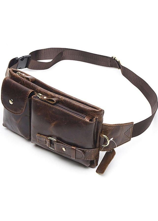 Túi đeo bụng, túi bao tử da bò BHM9080N