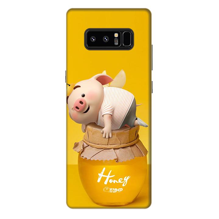 Ốp lưng nhựa cứng nhám dành cho Samsung Galaxy Note 8 in hình Heo Cute
