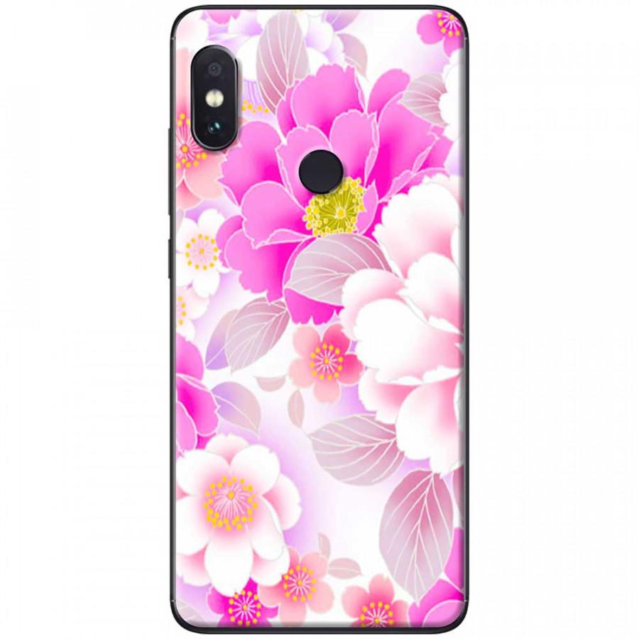 Ốp lưng dành cho Xiaomi Redmi Note 6 mẫu Hoa hồng phấn
