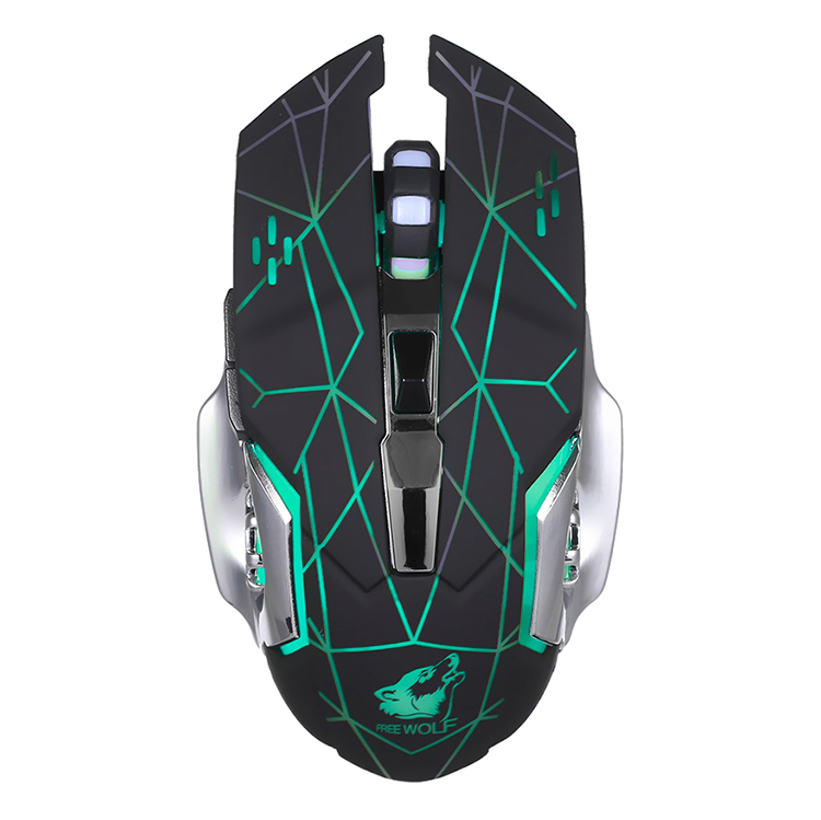 Free Wolf Wireless Gaming Mouse 2400Dpi 7 Breathing Lights Adjustable Dpi Mice With 2.4G And 10M / 33Ft Long Transmission - 2362276 , 6941210708154 , 62_15422632 , 347000 , Free-Wolf-Wireless-Gaming-Mouse-2400Dpi-7-Breathing-Lights-Adjustable-Dpi-Mice-With-2.4G-And-10M--33Ft-Long-Transmission-62_15422632 , tiki.vn , Free Wolf Wireless Gaming Mouse 2400Dpi 7 Breathing Ligh