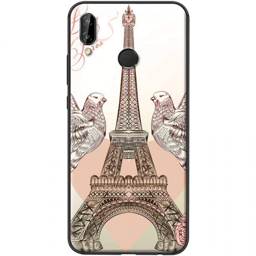 Ốp lưng dành cho Huawei Nova 3i mẫu Tháp Effiel bồ câu
