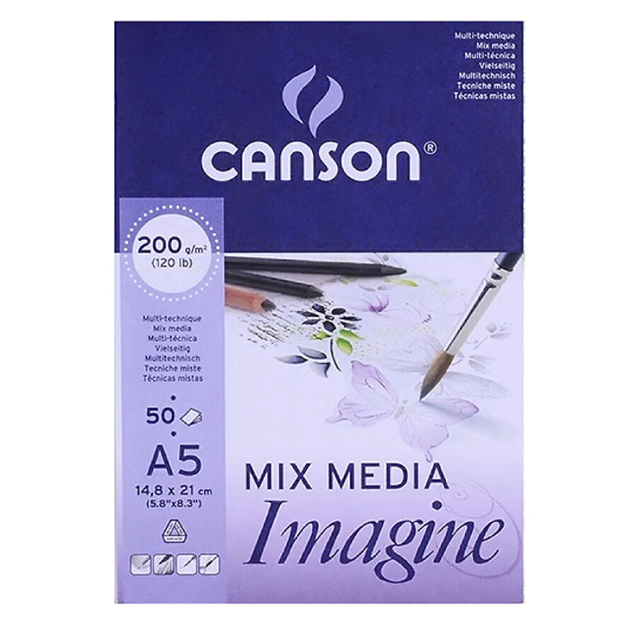 (CANSON) Imagine painting the water watercolor powder art paper 200g A5 (148X210mm) 50 /
