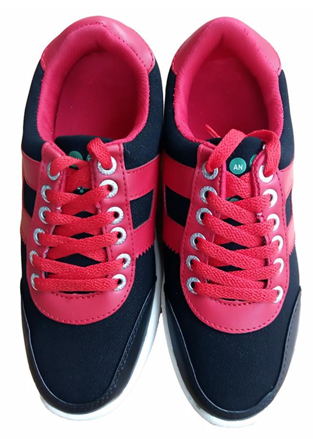 Giày bánh gót An Phát ( 013 - 01 - Đen Đỏ)