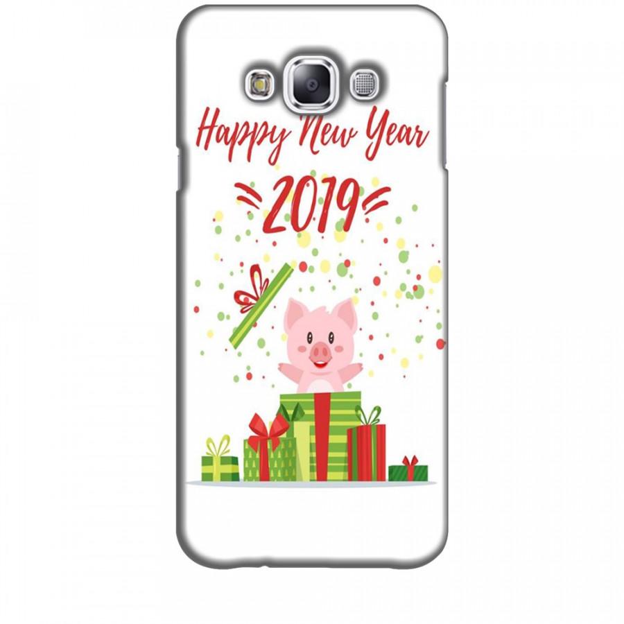 Ốp lưng dành cho điện thoại  SAMSUNG GALAXY E7 Happy New Year Mẫu 3