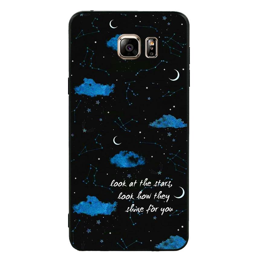 Ốp lưng nhựa cứng viền dẻo TPU cho điện thoại Samsung Galaxy Note 5 - Shine For You
