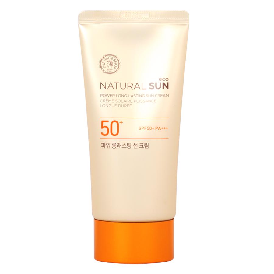 Kem Chống Nắng Đa Chức Năng The Face Shop Natural Sun Eco Power Long-Lasting Sun Cream SPF50+ PA+++ (50ml/1.69 US FL.OZ.) - 1393214 , 2755381321357 , 62_6908181 , 605000 , Kem-Chong-Nang-Da-Chuc-Nang-The-Face-Shop-Natural-Sun-Eco-Power-Long-Lasting-Sun-Cream-SPF50-PA-50ml-1.69-US-FL.OZ.-62_6908181 , tiki.vn , Kem Chống Nắng Đa Chức Năng The Face Shop Natural Sun Eco Power