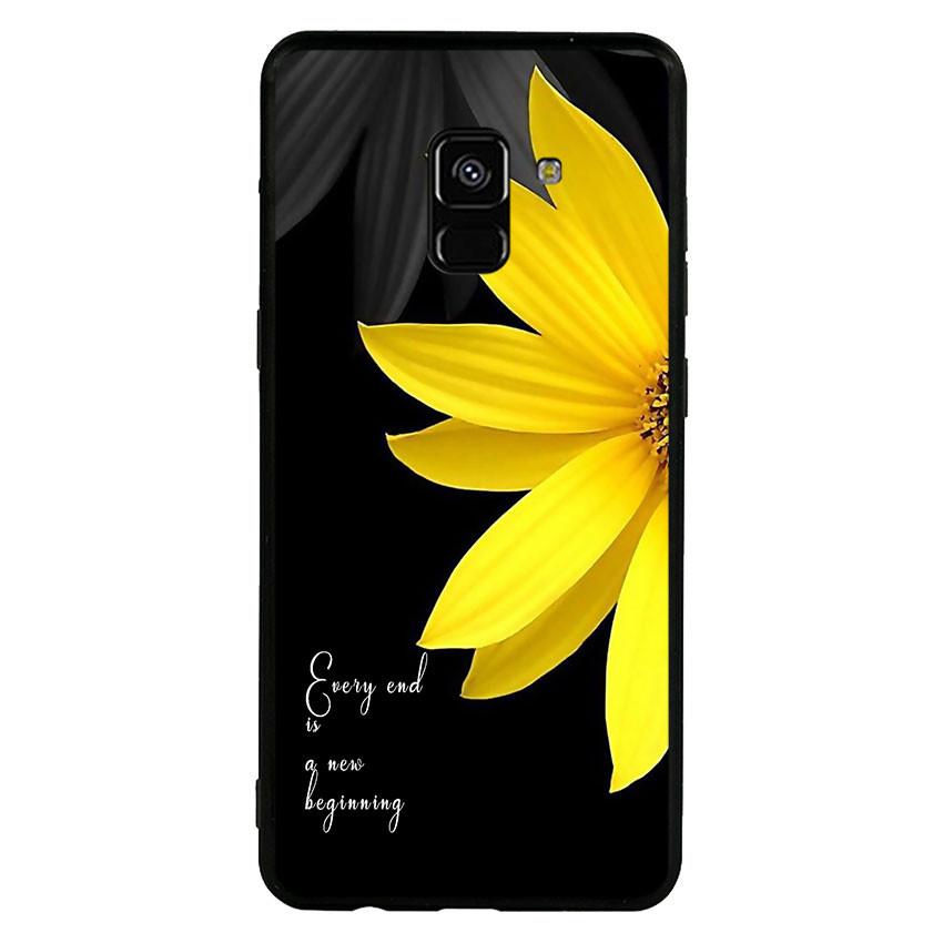 Ốp lưng viền TPU cho Samsung Galaxy A8 Plus 2018 - Daisy 01