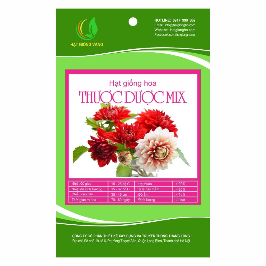 Combo 2 gói Hạt giống hoa Thược dược Mix Golden Seeds 20 Hạt