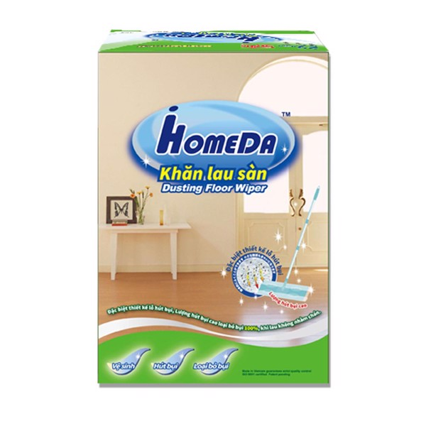Bông lau phòng sạch bằng nhung dài tĩnh điện không vết ố gấp gọn nhẹ dễ dùng Chất lượng Nhật Bản iHomeda...