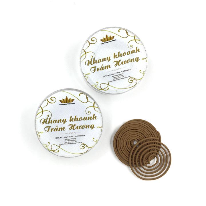 Trầm hương Thiện Thanh - Nhang trầm hương khoanh 4 giờ - dòng Ngân Liên -  50  grams